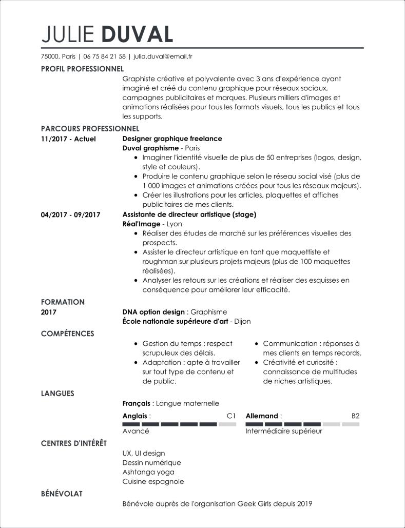 Modèle de CV simple