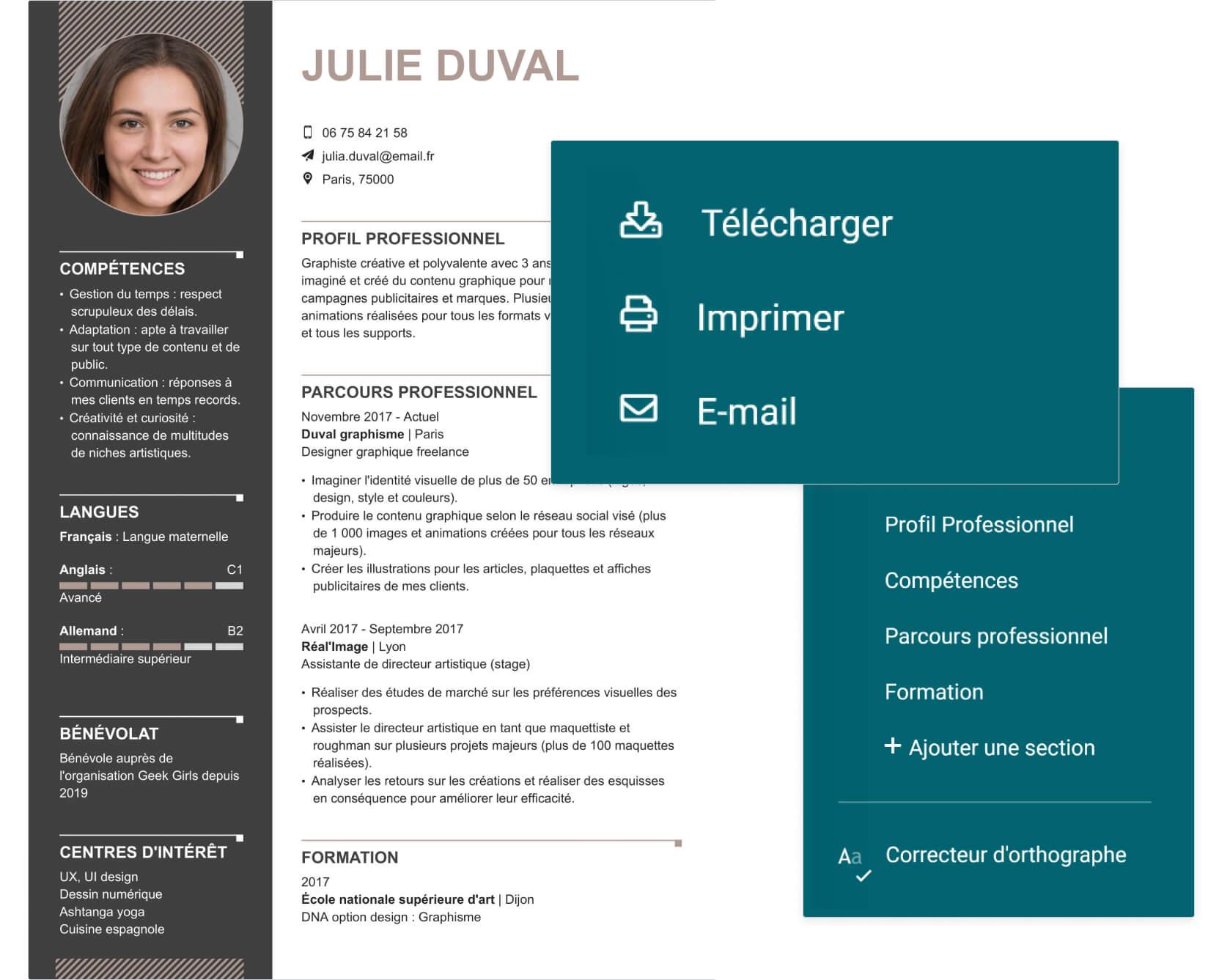 CV designer téléchargement