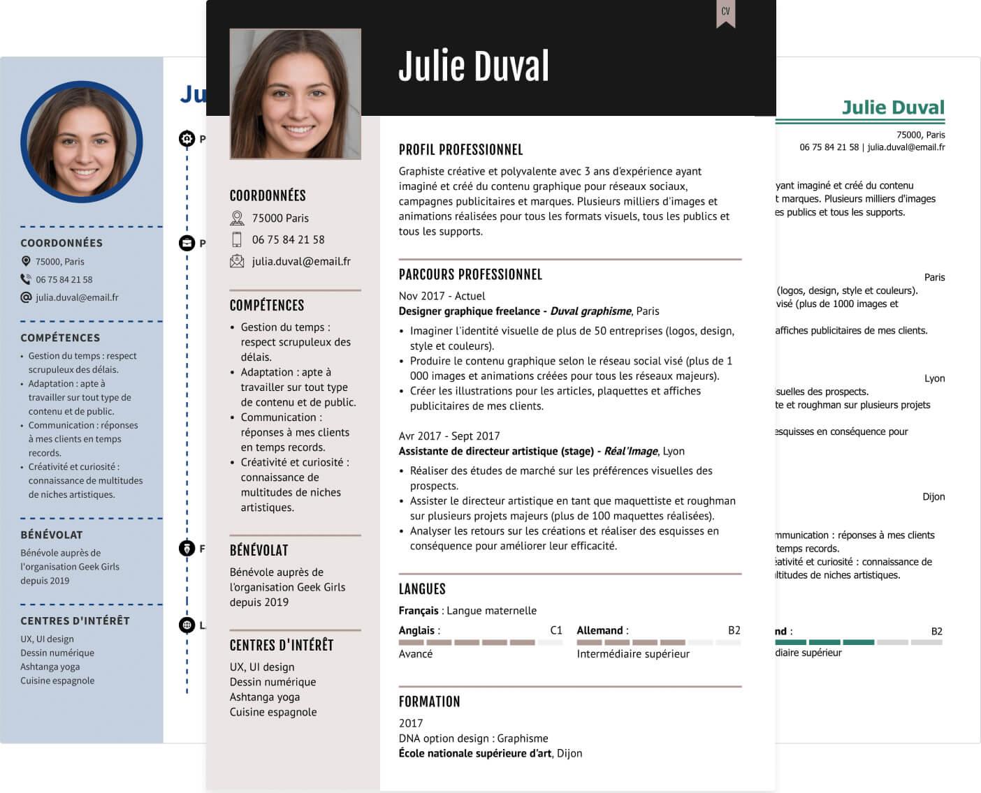 Modèles de CV design