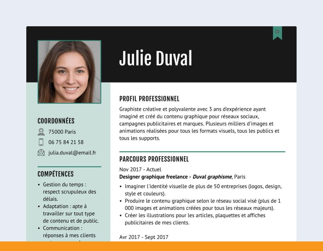 CV designer en ligne