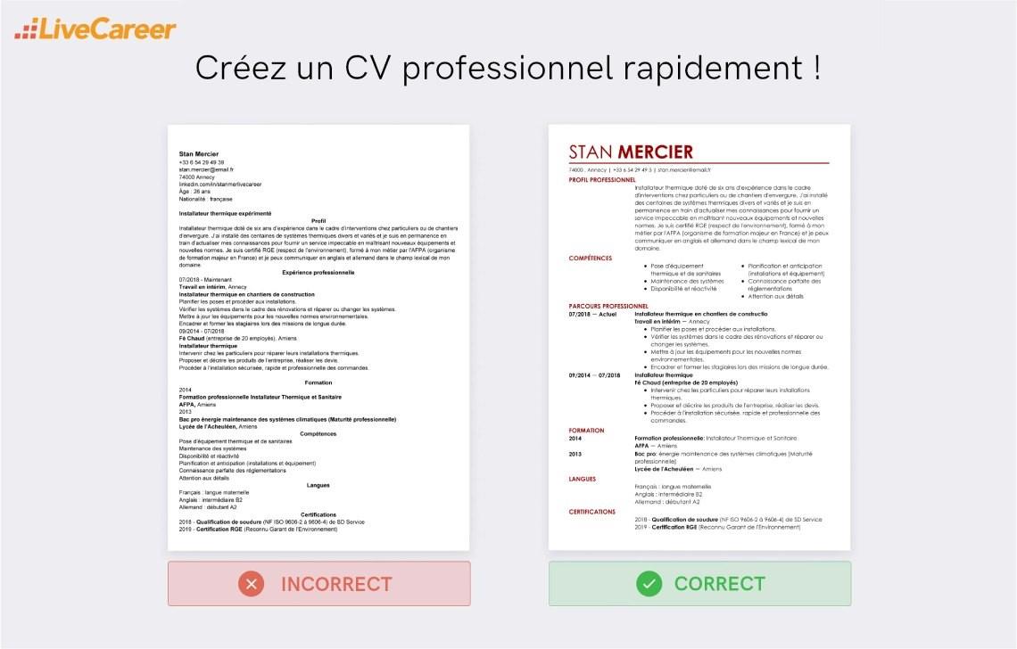 créateur de CV